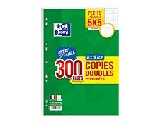 Oxford - 300 copies doubles A4 - petits carreaux - perforées