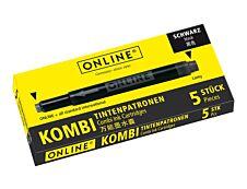 Online Kombi - 5 Cartouches d'encre noir
