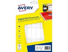 Avery - Etui A5 - 448 Étiquettes multi-usages blanches - 48,5 x 18,5 mm - réf ETE028