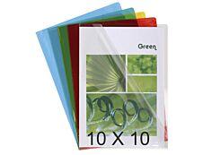 Exacompta - 10 Packs de 10 Pochettes coin lisses - A4 - 13/100 - couleurs assorties translucides