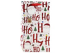 Clairefontaine Eurowrap - Sac cadeau pour 2 bouteilles - 20 x 9 x 36,2 cm - motif père Noël