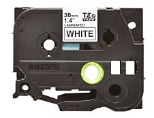 Brother TZe261 - Ruban d'étiquettes auto-adhésives - 1 rouleau (36 mm x 8 m) - fond blanc écriture noire