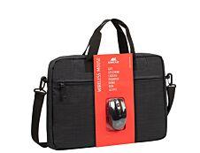 """Rivacase - Sacoche pour ordinateur portable 15,6"""" + souris - noir"""