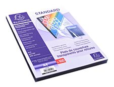 Exacompta - 100 couvertures à reliure A4 (21 x 29,7 cm) - plastique 200 microns - transparent