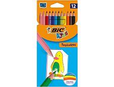 BIC Kids Tropicolors 2 - 12 Crayons de couleur