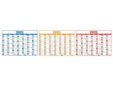 Oberthur Classique - Calendrier 6 mois par face - 33,5 x 43 cm - disponible dans différentes couleurs