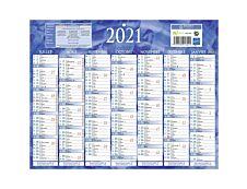 Bouchut 215 - Calendrier bancaire 7 mois par face - 21 x 26,5 cm - bleu