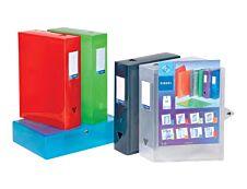 Viquel Propyglass - Boîte de classement personnalisable - dos 80 mm - disponible dans différentes couleurs
