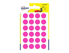 Avery - 168 Pastilles adhésives - rose - diamètre 15 mm
