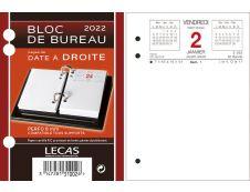 Lecas - Bloc de bureau - date à droite - 8,5 x 11,5 cm