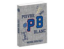 Poivre Blanc - Agenda gris 1 jour par page - 12 x 16 cm - Bagtrotter