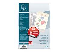 Exacompta - 50 pochettes de perforées - A4  - polypropylène - Anti-statiques