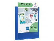 Viquel - Porte vues personnalisable - 80 vues - A4 - bleu