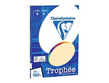 Clairefontaine Trophée - Papier couleur - A4 (210 x 297 mm) - 160 g/m² - 50 feuilles - chamois