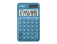 Calculatrice de poche Casio SL-310UC - 10 chiffres - alimentation batterie et solaire - bleu