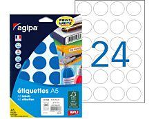 Apli Agipa - Etui A5 - 240 Pastilles adhésives - bleu multi-usages - diamètre 30 mm - réf 101356