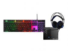 Pack gaming G-LAB Gallium - clavier gamer filaire + souris + casque + tapis
