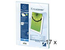 Exacompta Kreacover - 17 Boîtes de classement - dos 25 mm - blanc