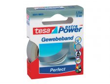 Tesa extra Power Perfect - Ruban adhésif en toile - 19 mm x 2.75 m - gris
