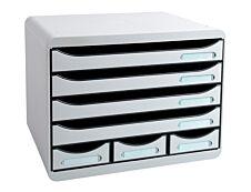 Exacompta Store-Box - Module de classement à l'italienne 7 tiroirs - gris