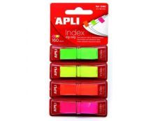 Apli - Marque-pages (Index) - 12 x 45 mm - couleurs fluos
