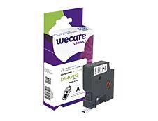 WECARE - Ruban d'étiquettes auto-adhésives pour Dymo D1 - 1 rouleau (9 mm x 7 m) - fond blanc écriture noire
