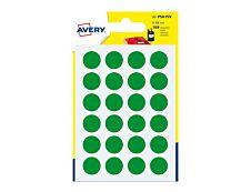 Avery - 168 Pastilles adhésives - vert - diamètre 15 mm