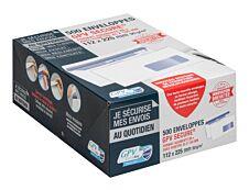 GPV Secure - 500 Enveloppes DL+ 112 x 225 mm - 90 gr - fenêtre 45x100 mm - blanc - autocollante
