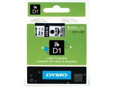 Dymo D1 - Ruban d'étiquettes auto-adhésives - 1 rouleau (6 mm x 7 m) - fond transparent écriture noire
