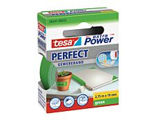 Tesa extra Power Perfect - Ruban adhésif en toile - 19 mm x 2.75 m - vert