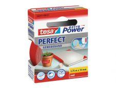 Tesa extra Power Perfect - Ruban adhésif en toile - 19 mm x 2.75 m - rouge