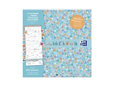 Calendrier Oxford Family - 1 mois sur 2 pages - 30 x 30 cm - turquoise - Hamelin