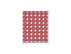 Apli Agipa - 192 Pastilles adhésives - étiquettes remise -50% - rose pastel