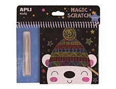Apli Kids - Cartes à gratter Hiver - 8 feuilles