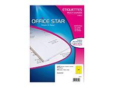 Office Star - 2400 Étiquettes multi-usages jaune - 70 x 37 mm - réf OS43474Y