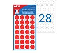 Apli - 168 Pastilles rouges - diamètre 15 mm - réf 111843
