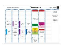 Exacompta - Planning hebdomadaire magnétique - effaçable à sec - 90 x 59 cm