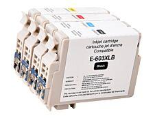 Epson 603XL Etoile de mer - compatible Uprint EJ603XLUPP4 - pack de 4 - noir, cyan, magenta, jaune - cartouche d'encre