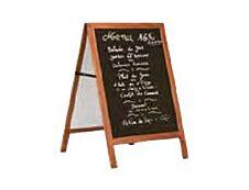 Promocome - Chevalet de sol bois fond ardoise - 53 x 66 cm - double face