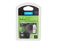 Dymo D1 - Ruban d'étiquettes auto-adhésives - 1 rouleau (12 mm x 7 m) - fond blanc écriture noire