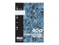 Cambridge - 400 copies doubles A4 - petits carreaux - perforées