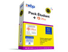 EBP Pack Etudiant - dernière version - 1 licence - avec Microsoft Office Professional 2016