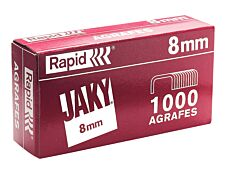 Rapid - Boîte de 1000 Agrafes JAKY 8 - cuivrées