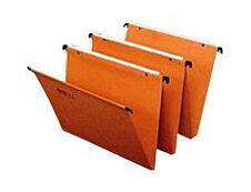 Fast Standard - 25 Dossiers suspendus pour tiroirs - orange - fond 15 mm
