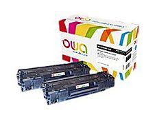 Owa K35354OW cartouche équivalente HP 85A - pack de 2 - noir