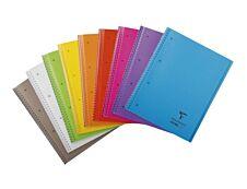 Clairefontaine Koverbook - Cahier à spirale polypro A4 (21x29,7 cm) - 160 pages - grands carreaux (Seyes) - disponible dans différentes couleurs