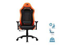 Fauteuil gamer EXPLORE - accoudoirs réglables - appuie-tête intégré - noir/orange