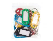Reskal - 20 porte-clés plastiques - couleurs assorties