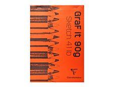Clairefontaine Graf It - Bloc dessin - 80 feuilles - A4 - 90 gr - blanc