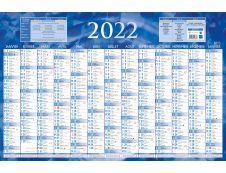 Bouchut 228 - Calendrier bancaire recto 13 mois - 43 x 65 cm - bleu